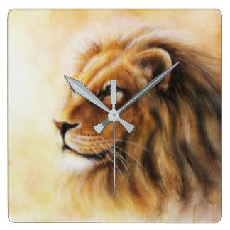 Furry Lion Wall Clocks