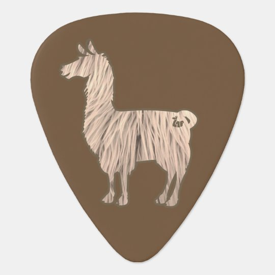 Furry Llama Guitar Pick