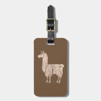 Furry Llama Luggage Tag