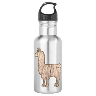 Furry Llama Water Bottle