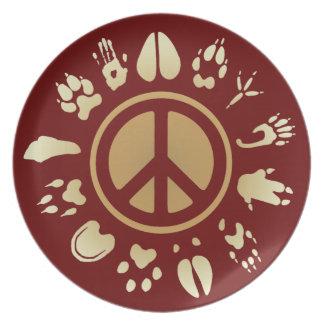 furry peace plate