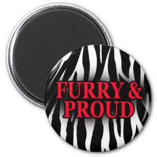 Furry & Proud Magnet Zebra Version