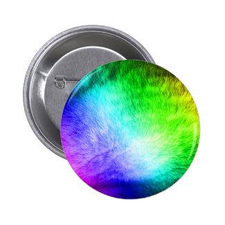 Furry Rainbow 2 Inch Round Button