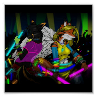 Furry Rave Poster