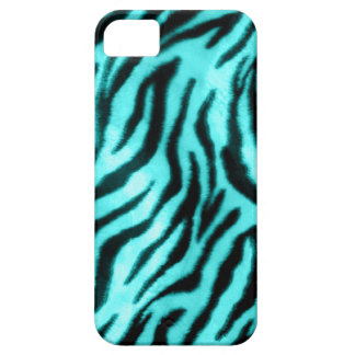 Furry Zebra Blue Case For The iPhone 5