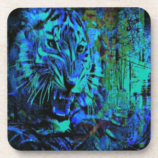 Fury Blue Tiger Coaster
