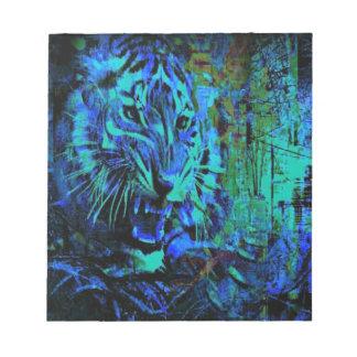 Fury Blue Tiger Notepad