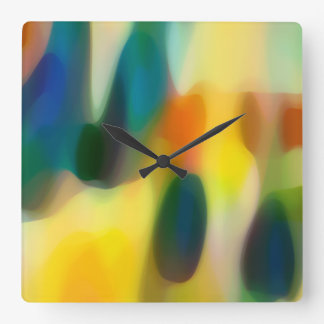 Fury Rain Beach House Square Wall Clock