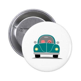 Fusca love 2 inch round button