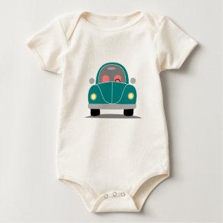 Fusca love baby bodysuit