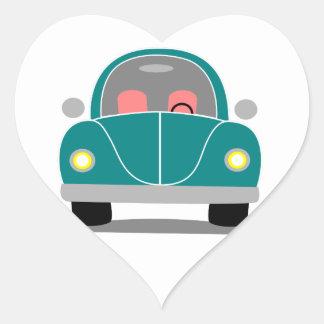 Fusca love heart sticker