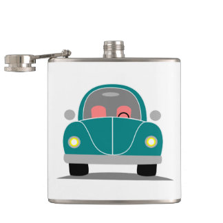 Fusca love hip flask
