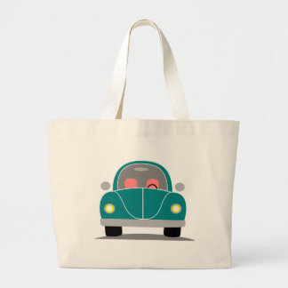 Fusca love large tote bag