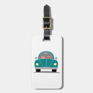 Fusca love luggage tag