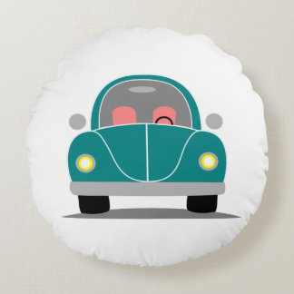 Fusca love round pillow