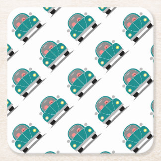 Fusca love square paper coaster