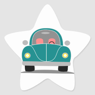 Fusca love star sticker
