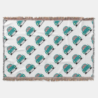 Fusca love throw blanket