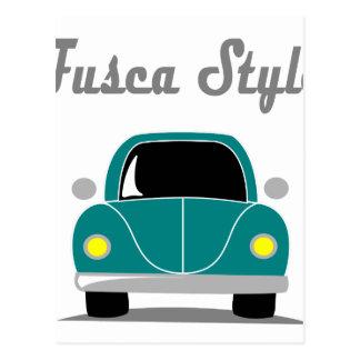 Fusca Style Postcard