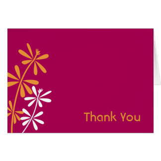 Fuschia and Orange Thank You Cards