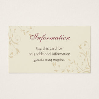 Fuschia Daffodils and Wheat Business Card