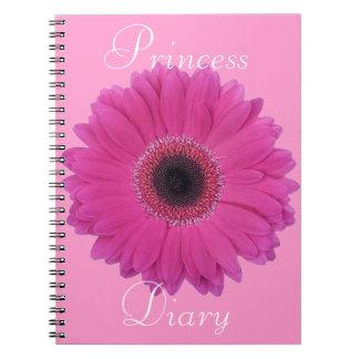 Fuschia Flower Princess Diary Notebook