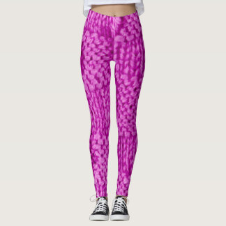 Fuschia Knitted Leggings