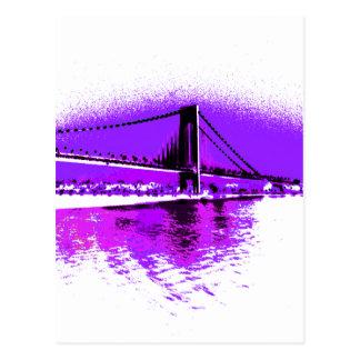 Fuschia Narrows Bridge postcard