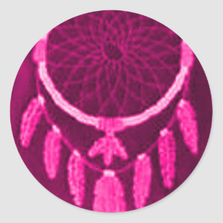 'Fuschia Night' Classic Round Sticker
