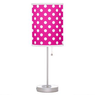 Fuschia Pink and White Polka Dot Table Lamp