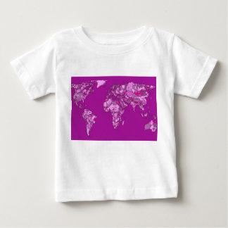 Fuschia pink map t-shirt