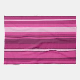 Fuschia stripes kitchen towel
