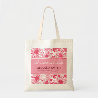 Fuschia Sunflowers Personalized Wedding Party Bag