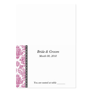 Fuschia Wedding Placecards Large Business Card