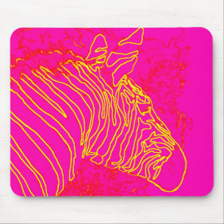 Fuschia Zebra Mouse Pad