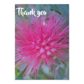 Fuscia flower thank you card