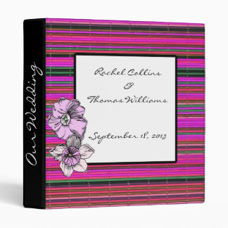 Fuscia & Flowers Bamboo Wedding Planner Binder