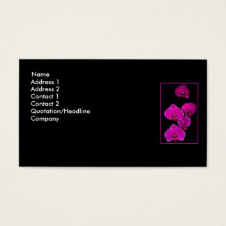 Fuscia Orchids Business Card