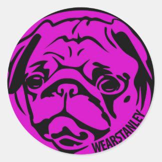 Fuscia Pug Sticker