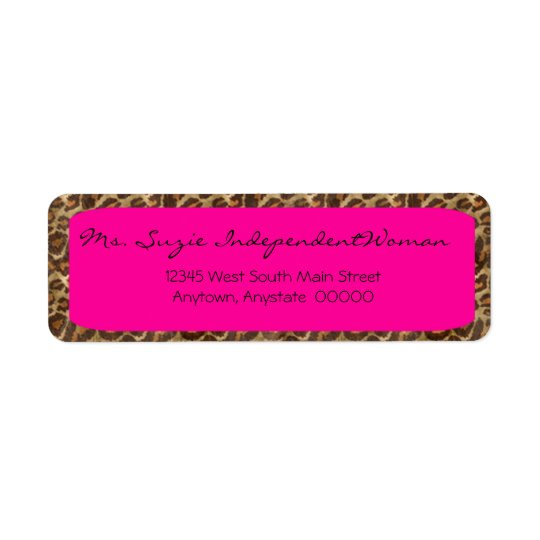 Fuscia Wild Side Address Labels