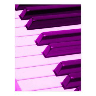 Fusha Pink Piano Or Organ Keyboard Postcard