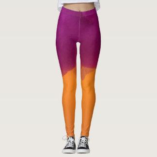 Fushia and Orange Leggings