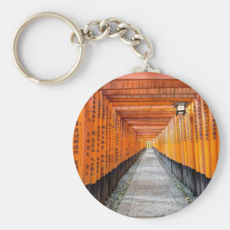 Fushimi Inari Shrine, Kyoto Basic Round Button Keychain
