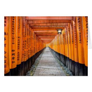 Fushimi Inari Shrine, Kyoto Japan Card