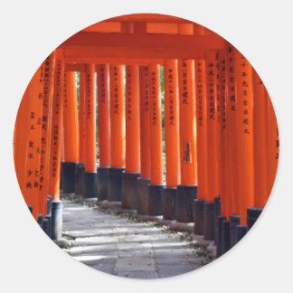 Fushimi Inari Taisha, Kyoto Attractions - Japan Round Sticker