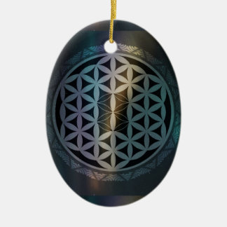fusion_aurora_mandala ceramic oval ornament