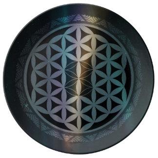 fusion_aurora_mandala porcelain plate