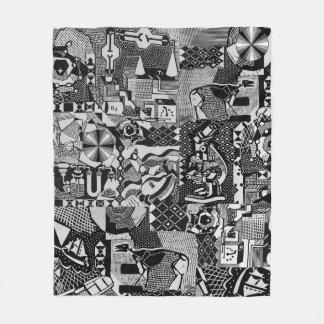fusion_cosmicRAY Fleece Blanket