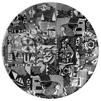 fusion_cosmicRAY Porcelain Plate