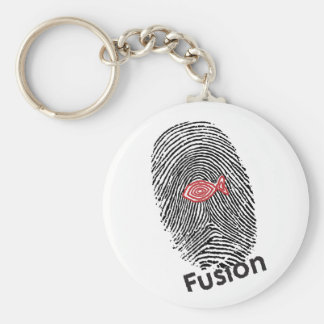 Fusion Logo 3-23-09 For Products.ai Basic Round Button Keychain